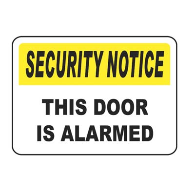 Door Alarm Security Notice