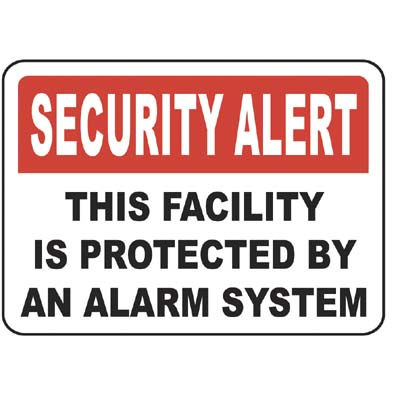 Alarm System Security Alert