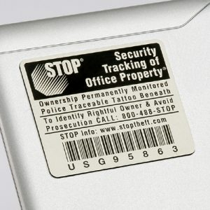 Stop Tag Program Asset ID Tags 300 - 499 Units