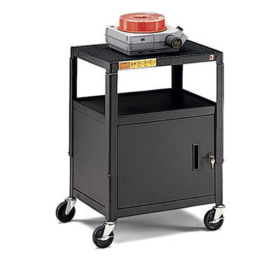 Adjustable Height Cabinet Cart with Electrical Unit - Quick Ship Item!