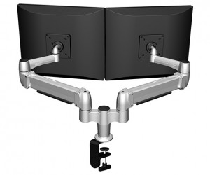Dual Arm Monitor Mount (C Clamp)