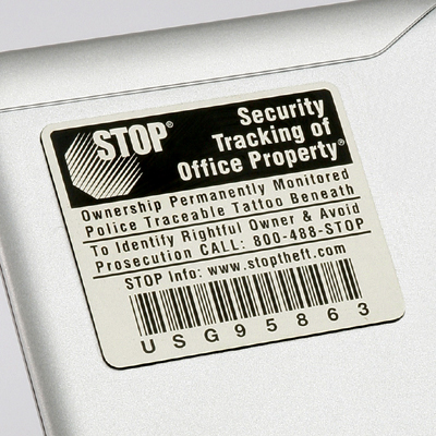 Stop Tag Program Asset ID Tags 500 or More Units