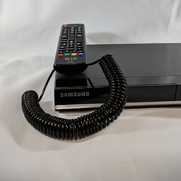 The Remote Lock II can be used to attach your remote to a TV, DVD player or a cable receiver.