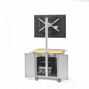 Large Flat Panel Mobile Cabinet Cart (For Use With 50-61 Inch Monitors)