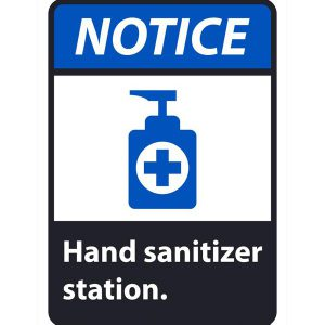 hand sanitizer notice